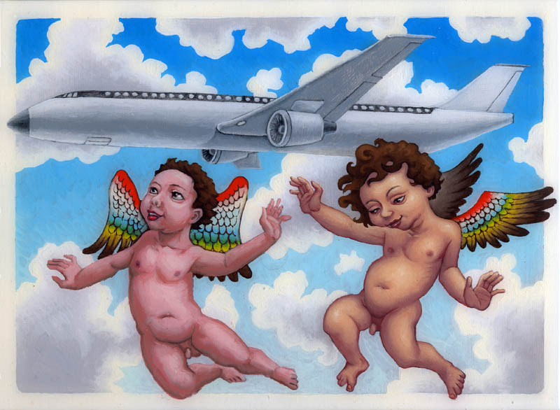 angels with airplane