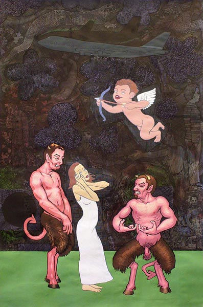 satyrs with woman