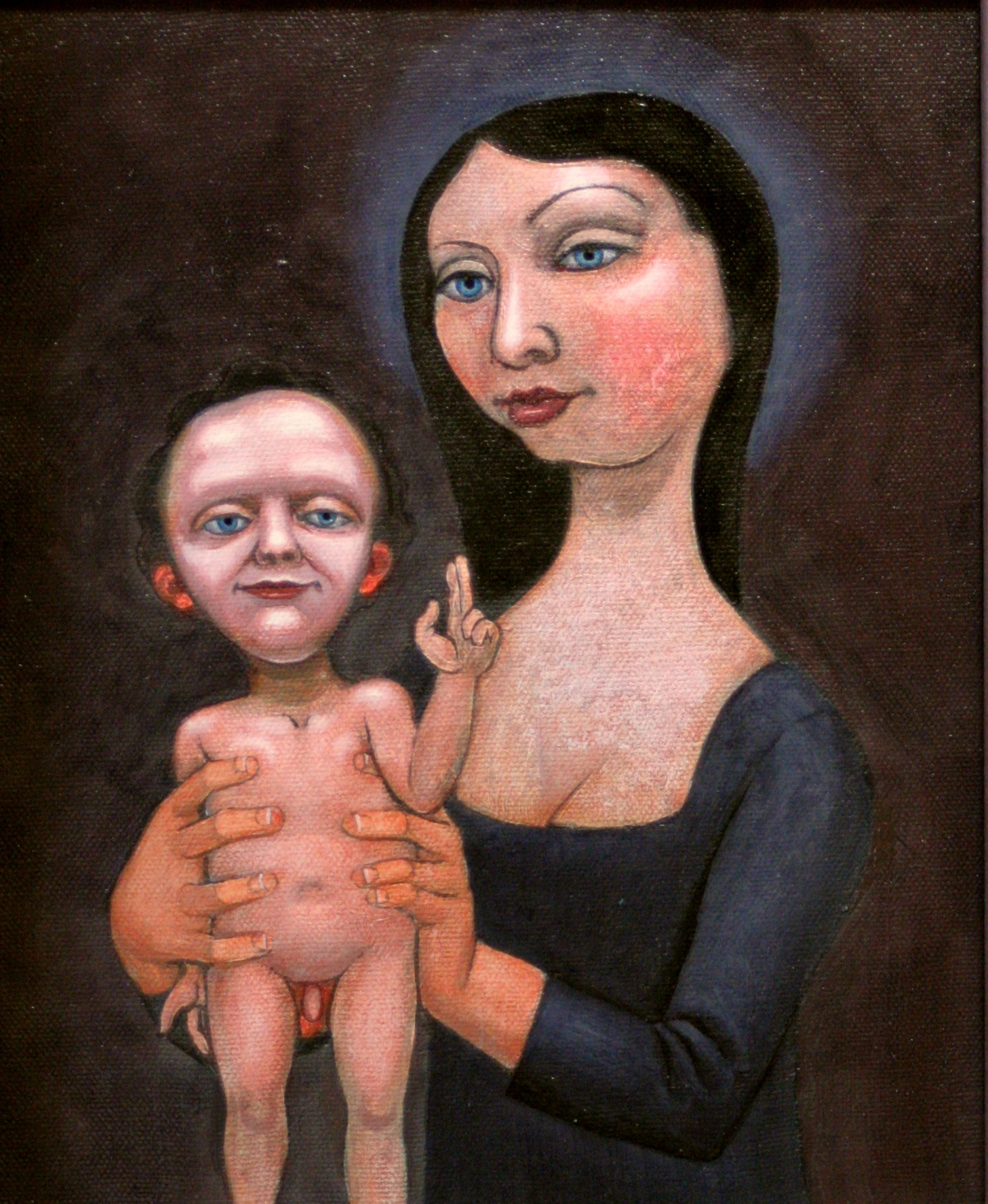woman with infant
